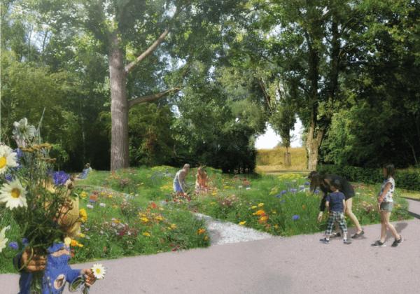 Belevingstuin in Stadspark Hoofddorp
